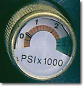 Optional dial pressure gauge